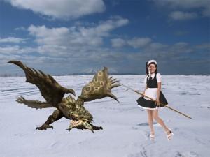 メイド服着た照英が雪原で泣きながら狩りをしてる画像ください