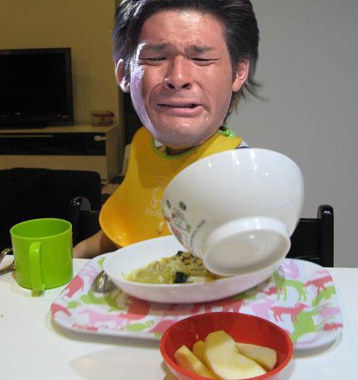 照英が普通にご飯食べてる画像ください