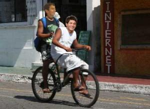 照英が石原良純と自転車を二人乗りしてる画像ください