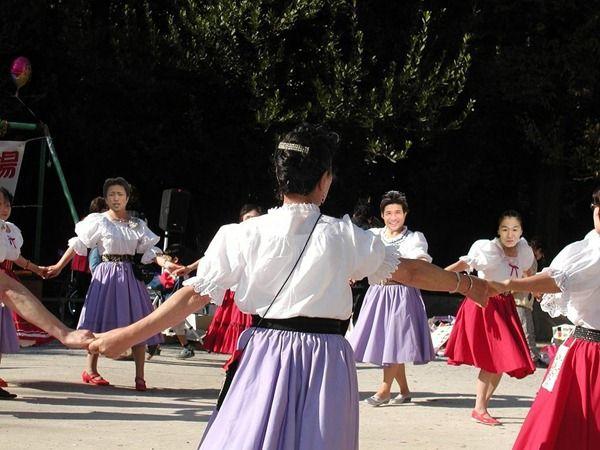 照英が谷亮子とフォークダンス踊ってる画像ください