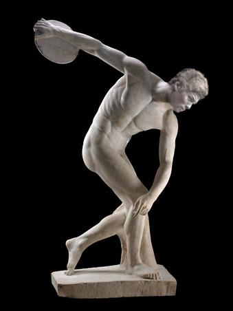古代ギリシャで発見された円盤投げしてる照英の石像の画像ください