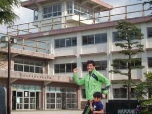 照英が富山県の立山中央小学校で走ってる画像ください