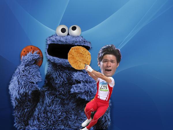 照英が泣きながらクッキーモンスターにお煎餅あげてる画像ください