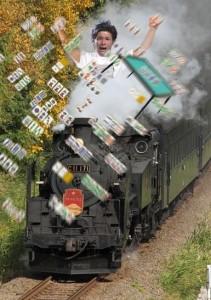 照英が蒸気機関車に乗りながら麻雀してる画像ください