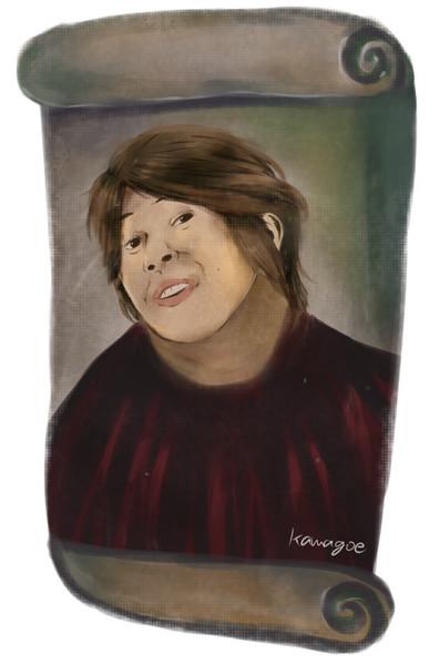 フレスコ画に描かれた川越シェフが一般人のお婆さんに修復された画像ください